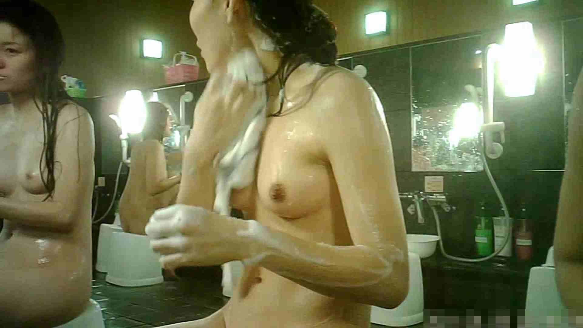 No.3 洗い場!!手前の嬢、特徴的な顔とコンパクトなおっぱい。 銭湯 | おっぱい特集  88pic 43