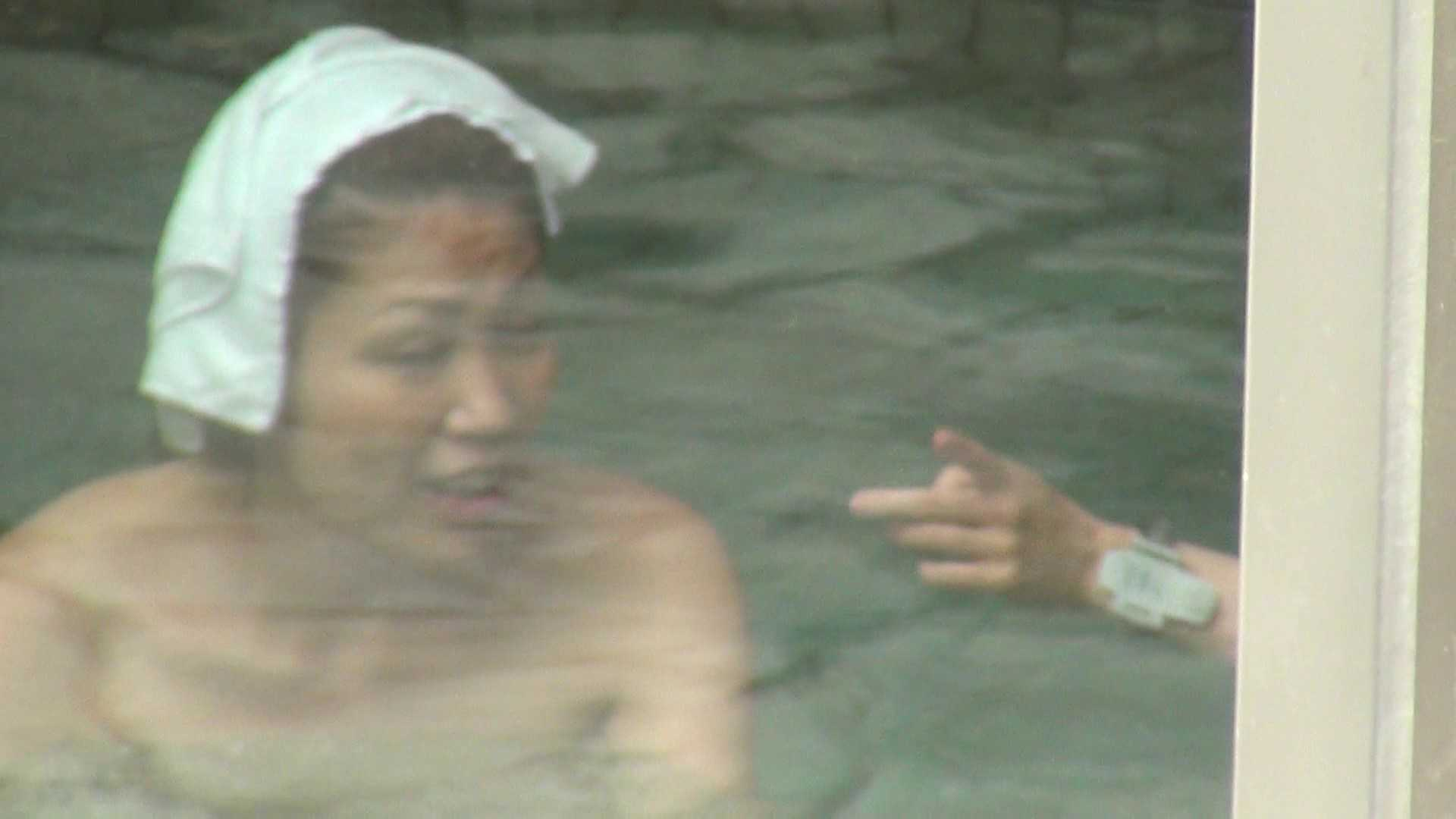 Vol.65 波平陰毛 体育座りで魅惑のチラリ 潜伏露天風呂  42pic 12